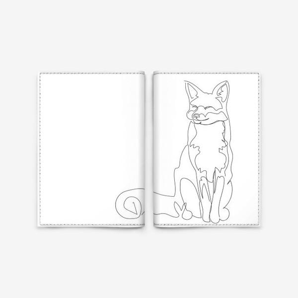Обложка для паспорта «Лиса. Графика. Линейный рисунок»