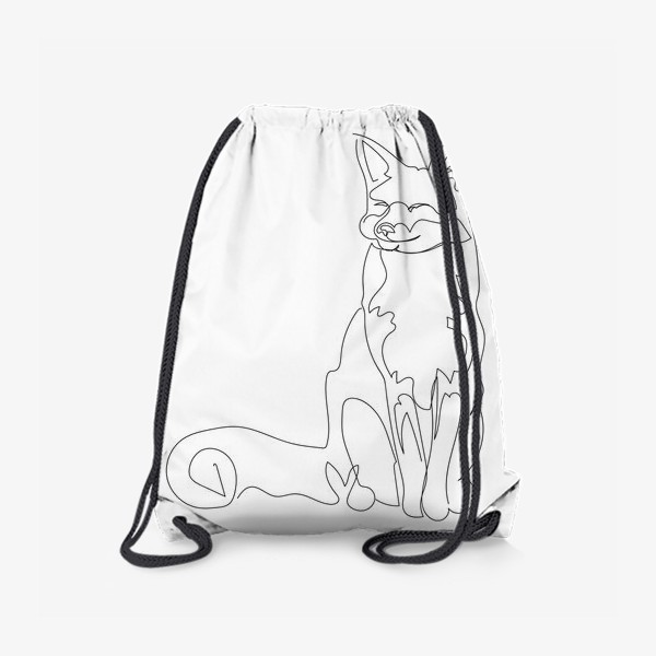 Рюкзак «Лиса. Графика. Линейный рисунок»