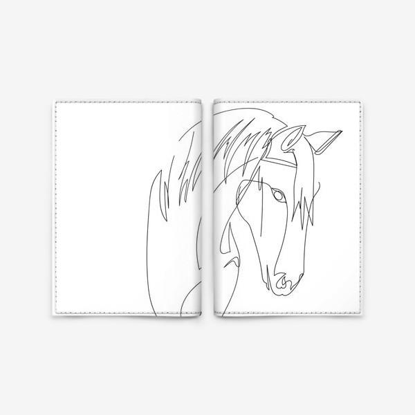 Обложка для паспорта «Конь. Графика. Линейный рисунок»