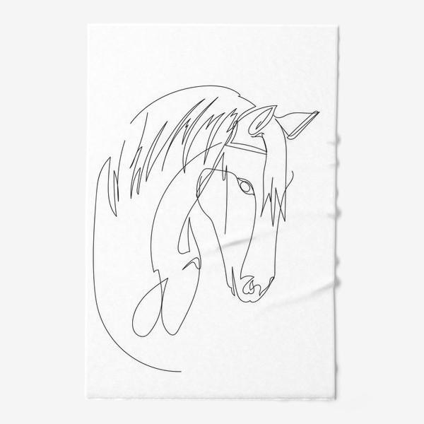 Полотенце «Конь. Графика. Линейный рисунок»