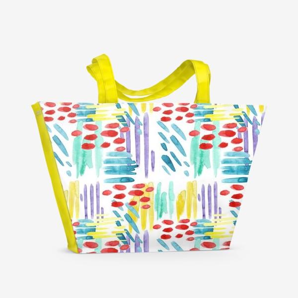 Пляжная сумка «Акварельный Дождь»