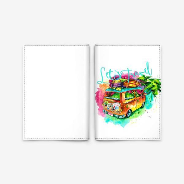 Обложка для паспорта «Путешествие. Автобус.»