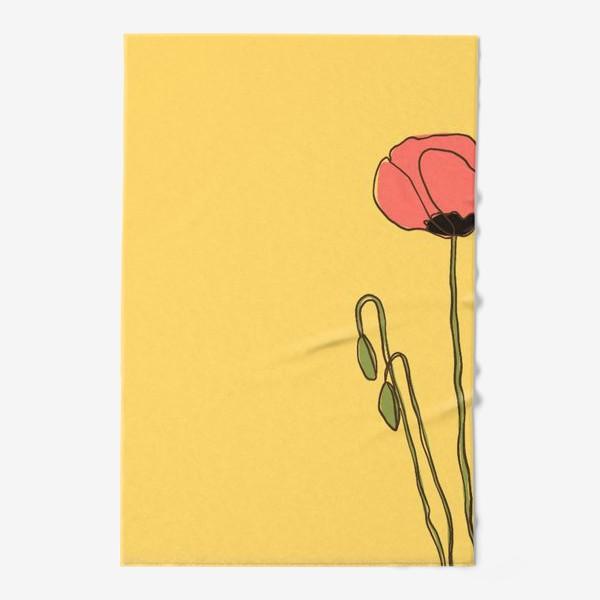 Полотенце «мак на желтом фоне»