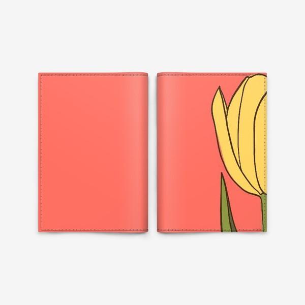 Обложка для паспорта «тюльпан»