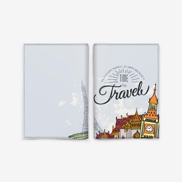 Обложка для паспорта «Путешествие и фотограф»