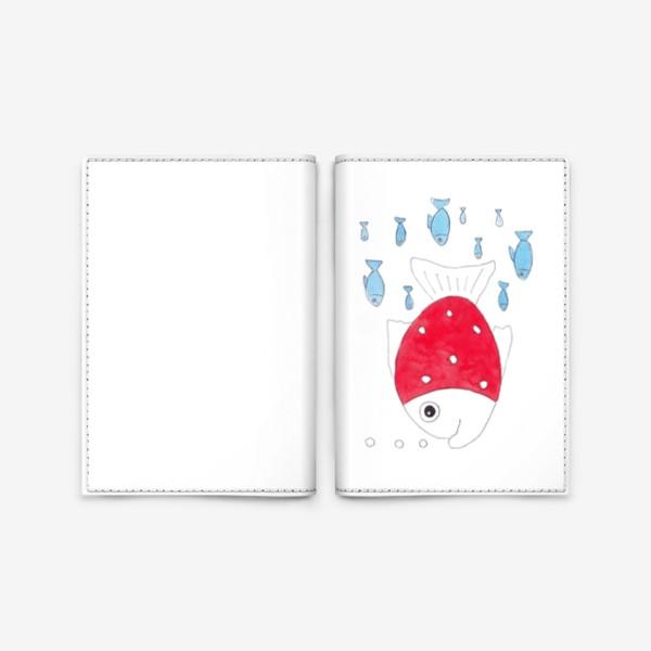 Обложка для паспорта «Красная рыбка»