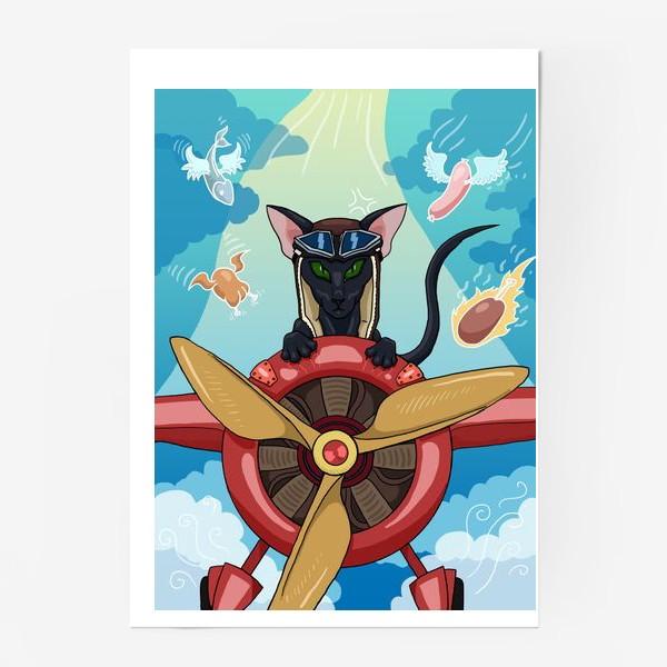 Постер «Кот-пилот»
