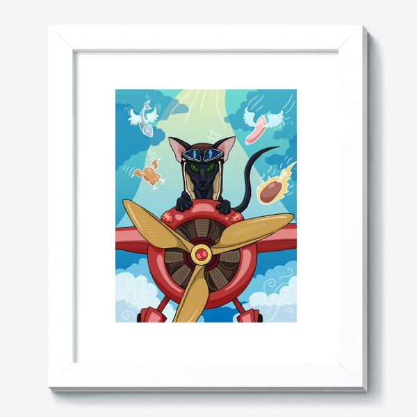 Картина «Кот-пилот»