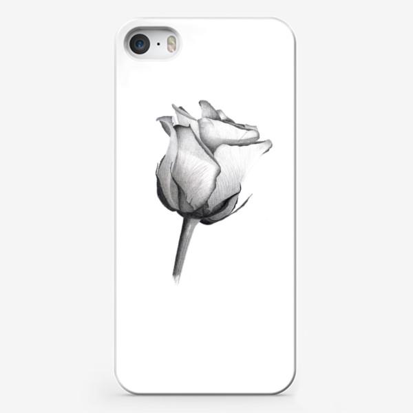 Чехол iPhone «Роза. Рисунок розы. Графика. Реализм.»