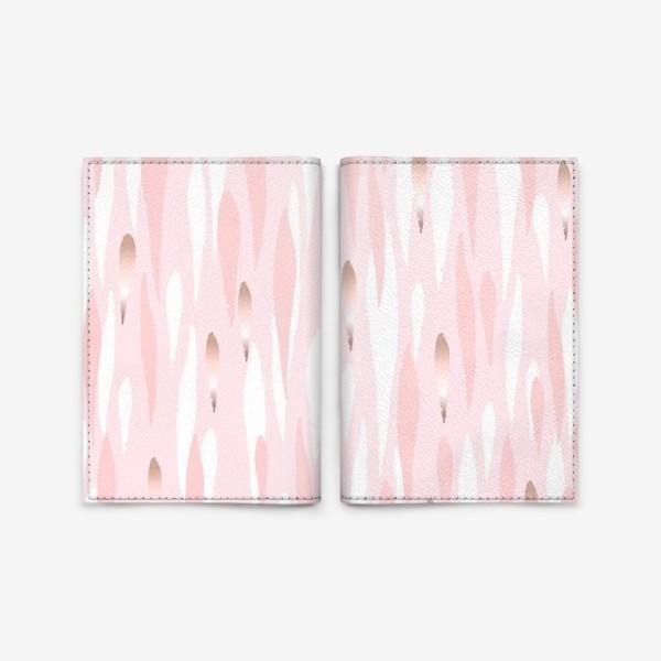 Обложка для паспорта «Абстрактный фон в розовых тонах.»