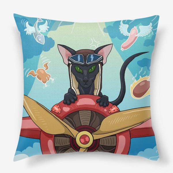 Подушка «Кот-пилот»