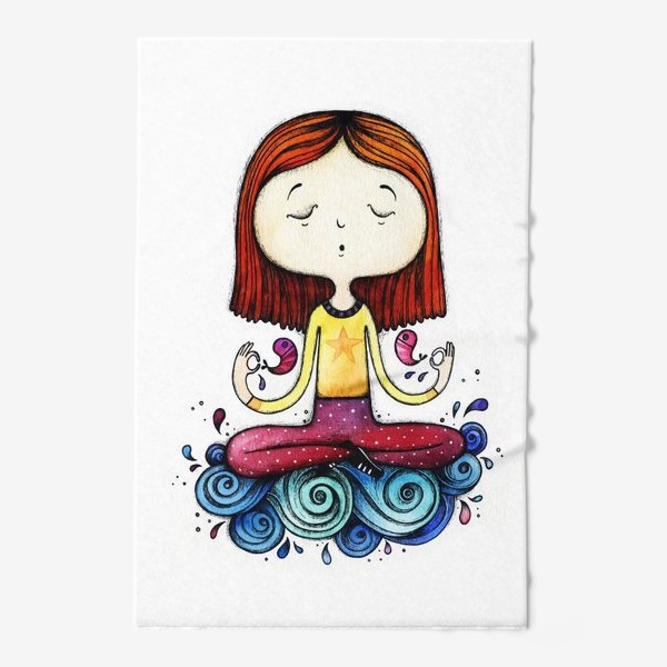 Полотенце «Девушка-йог»