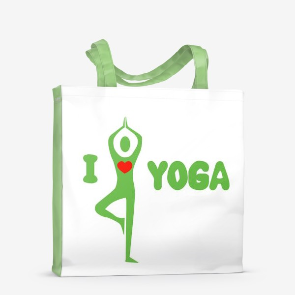 Сумка-шоппер «i love yoga»