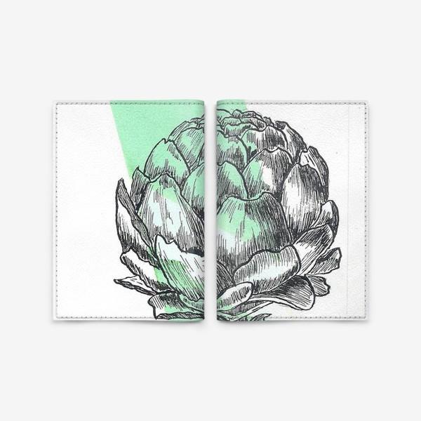 Обложка для паспорта «Артишок. Графика.»