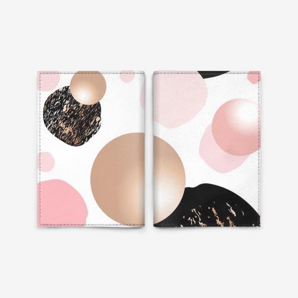 Обложка для паспорта «Золотое и розовое. Паттерн.»