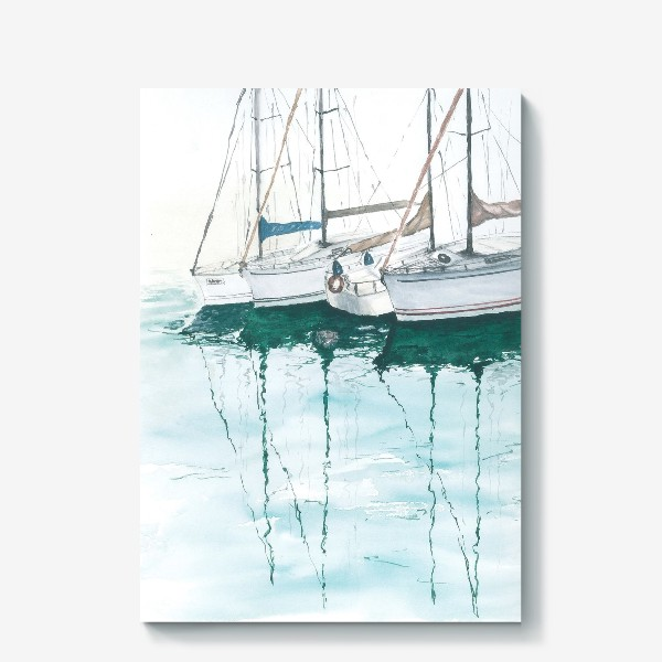 Холст «Морская серия: Яхты в порту»