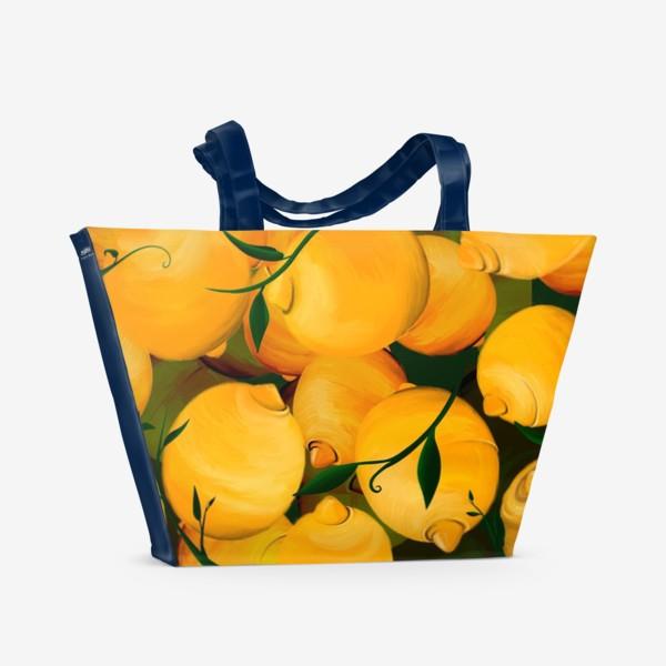 Пляжная сумка «Fresh lemon»