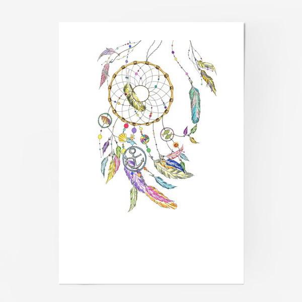 Постер «Ловец снов на белом»