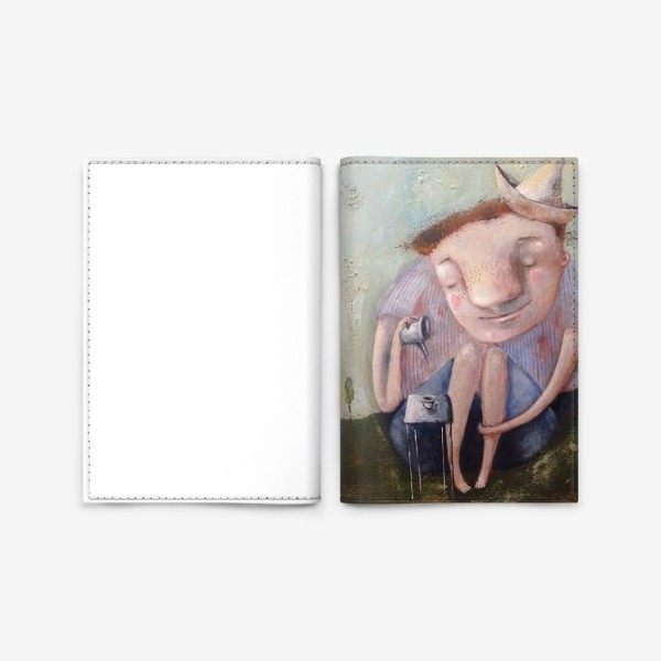 Обложка для паспорта «Чай на траве»