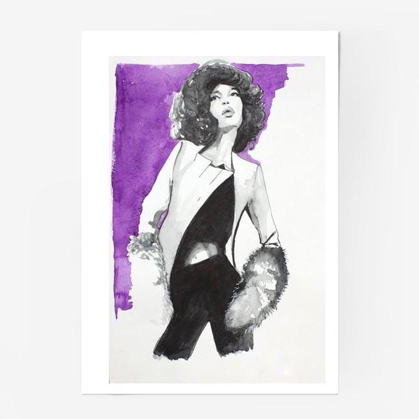 Постер «фиолетовая девушка»