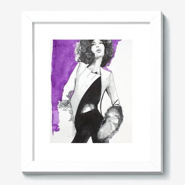 Картина «фиолетовая девушка»