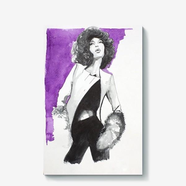 Холст «фиолетовая девушка»