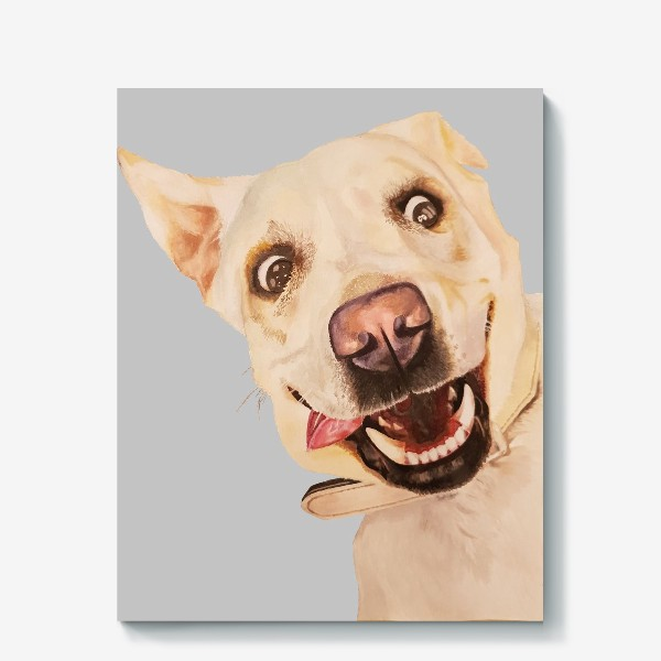 Холст «Жизнерадостная собака»