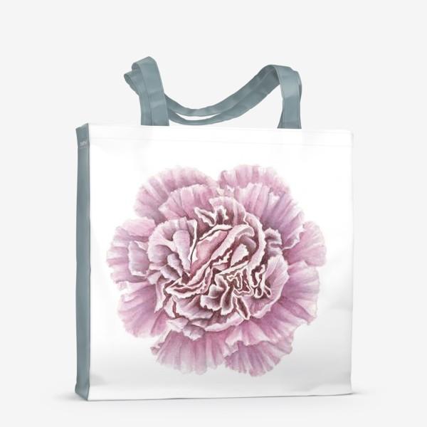 Сумка-шоппер «Розовая гвоздика цветок Carnation»