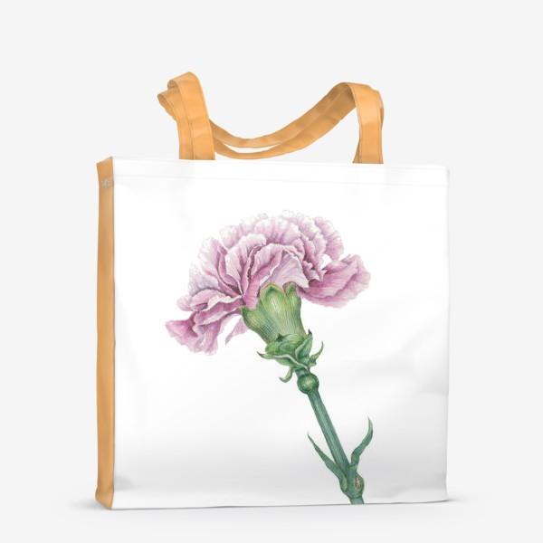 Сумка-шоппер «Розовая гвоздика ветка Carnation»