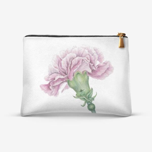 Косметичка «Розовая гвоздика ветка Carnation»