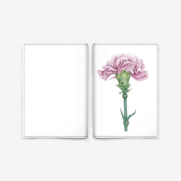 Обложка для паспорта «Розовая гвоздика ветка Carnation»