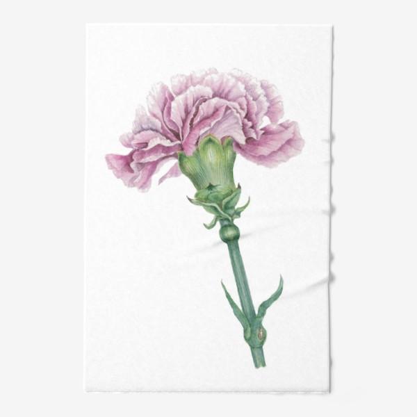 Полотенце «Розовая гвоздика ветка Carnation»