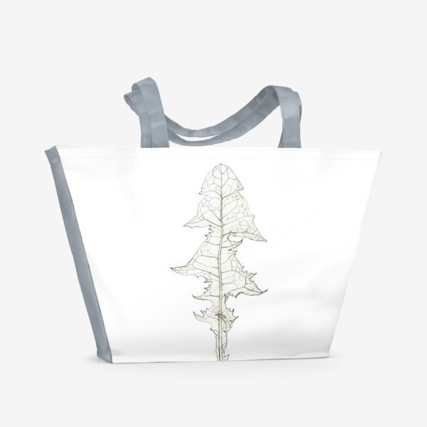 Пляжная сумка «Лист одуванчика Dandelion Leaf»