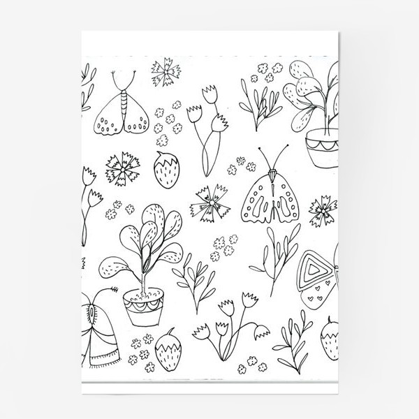 Постер «Ботаническая иллюстрация в чб»