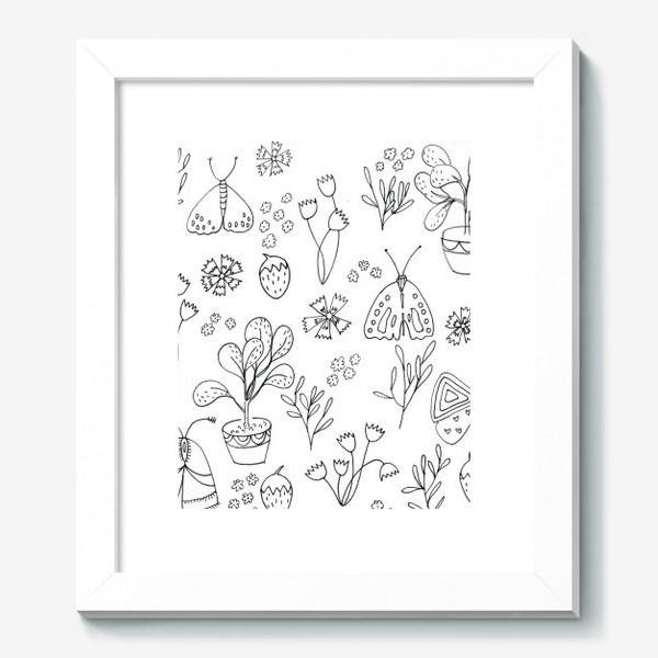 Картина «Ботаническая иллюстрация в чб»