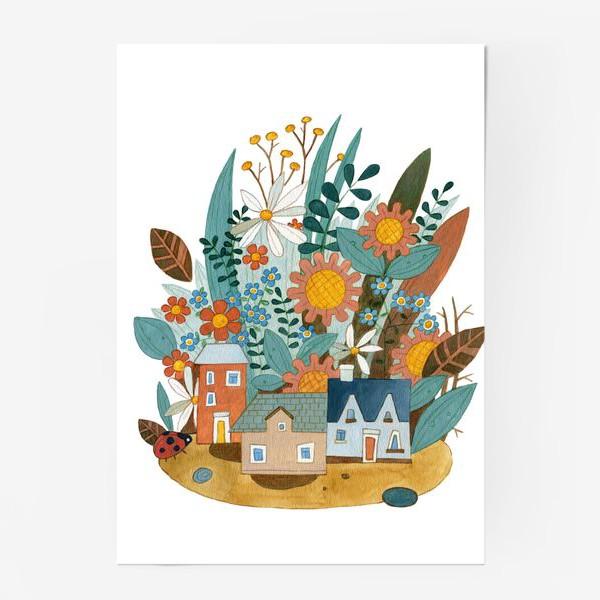 Постер «Цветочный город»