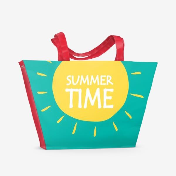 Пляжная сумка «Лето Summertime»