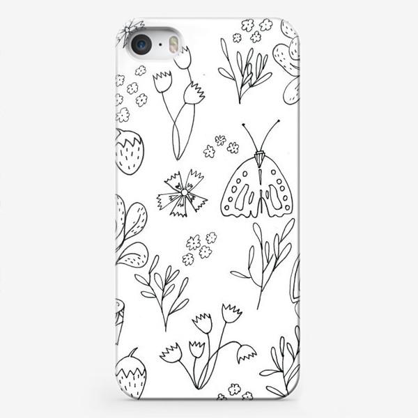 Чехол iPhone «Ботаническая иллюстрация в чб»