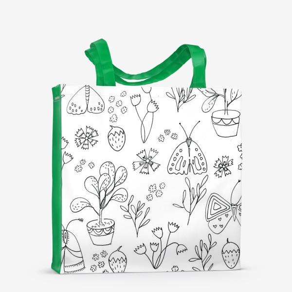 Сумка-шоппер «Ботаническая иллюстрация в чб»