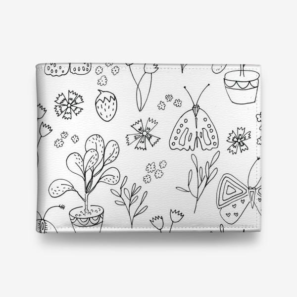 Кошелек «Ботаническая иллюстрация в чб»