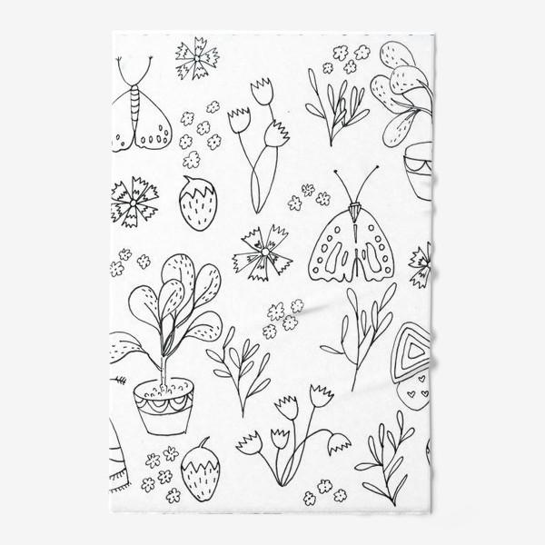 Полотенце «Ботаническая иллюстрация в чб»