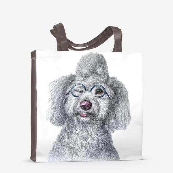 Сумка-шоппер «Собака в очках»