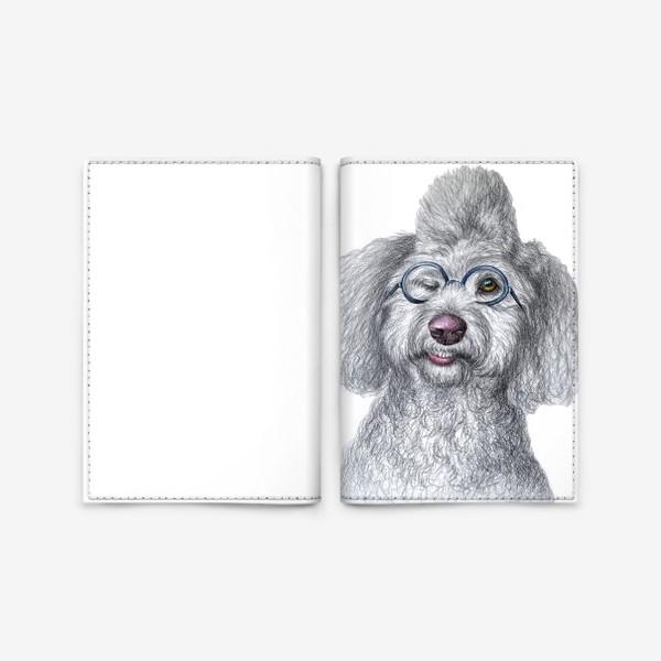 Обложка для паспорта «Собака в очках»