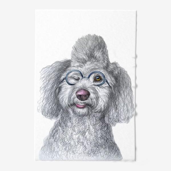 Полотенце «Собака в очках»