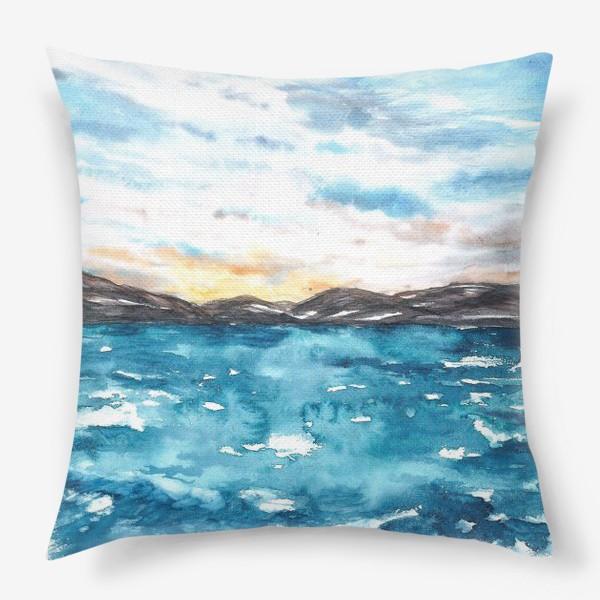 Подушка «Закат на море»