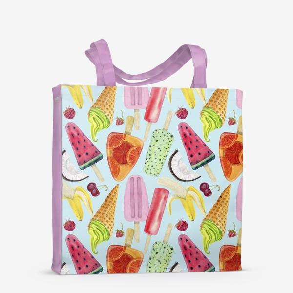 Сумка-шоппер «мороженое, фрукты, ягоды »