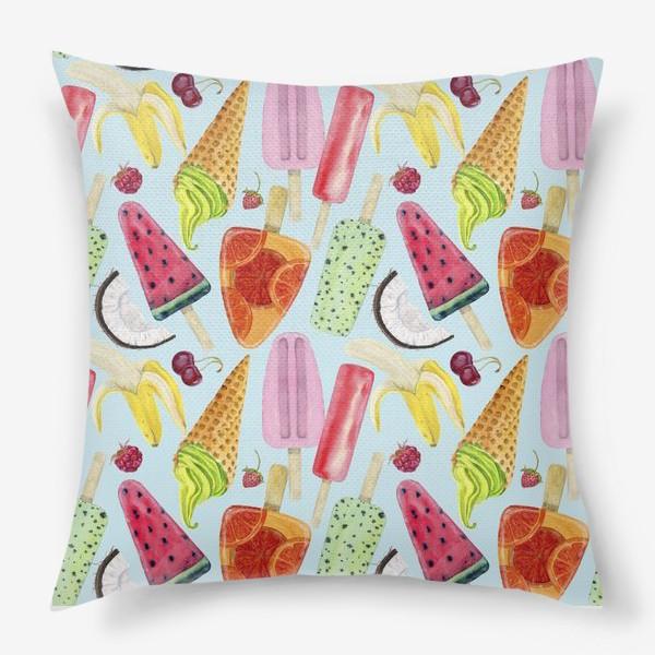 Подушка «мороженое, фрукты, ягоды »