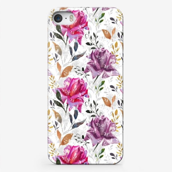 Чехол iPhone «Summer rose pattern»