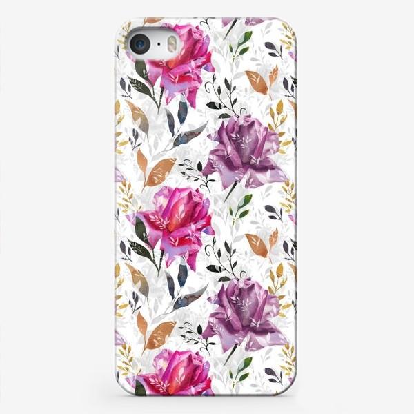 Чехол iPhone «Summer rose pattern»