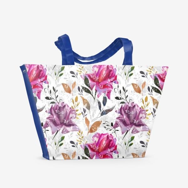 Пляжная сумка «Summer rose pattern»